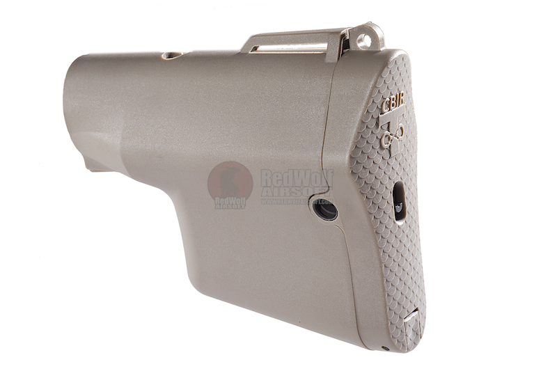 Madbull Troy Battle Ax M4 Buttstock w/ Silver Wire core - FDE
