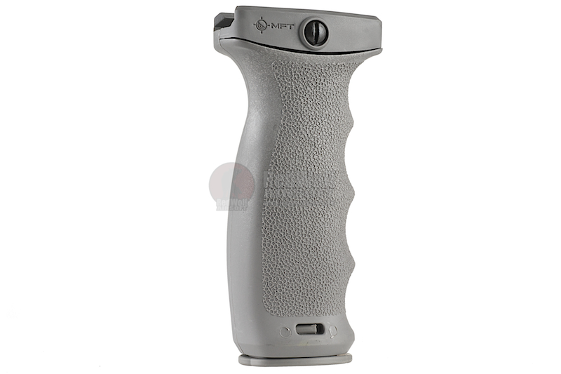 MFT React Ergonomic Vertical Grip (REG). Contoured finger swells - GREY