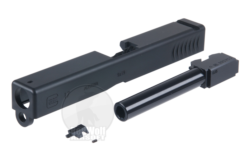 Prime RTF2 17 Aluminium Slide with Barrel for KSC 17 (Black)