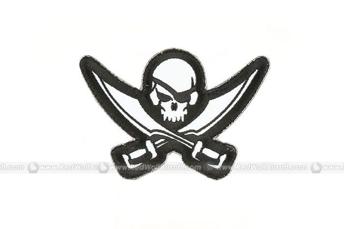 MSM Pirate Skull Diecut Patch (SWAT)