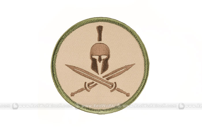 MSM Spartan Helmet and Crossed Gladius Patch (MC)