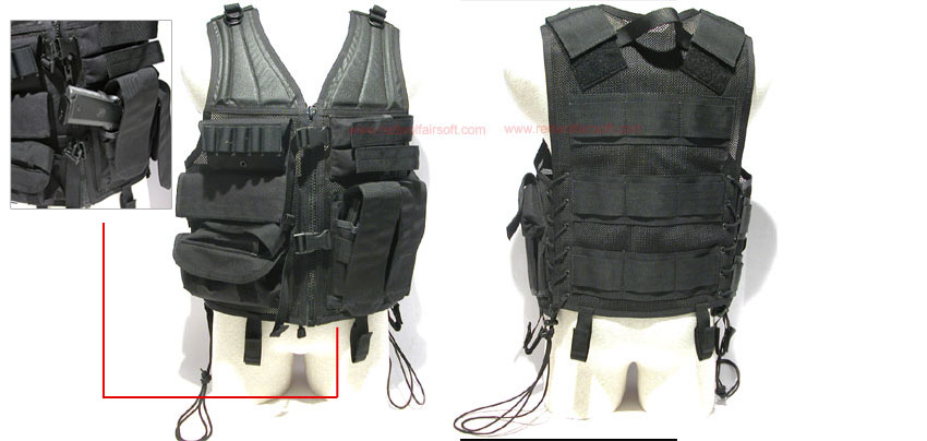MilSpex Pheonix HSV Vest - Black<font color=red> (Holiday Blowout Sale)</font>