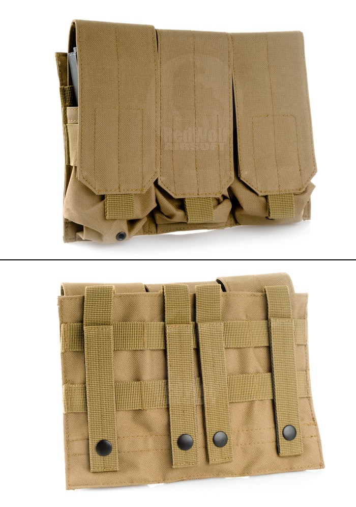 Milspex MOLLE Triple Double-Stacked M4 Mag Pouch (Coyote Brown)