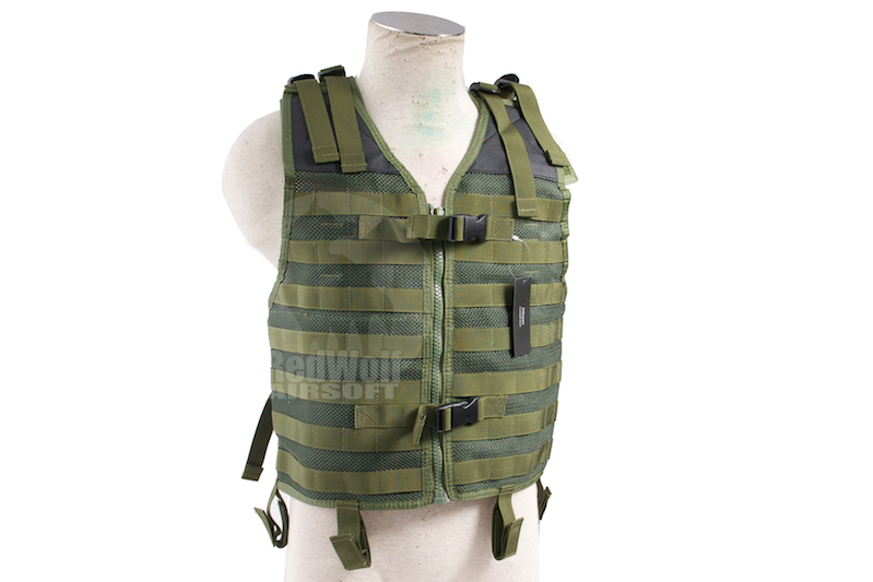 Milspex Tactical Lightweight Vest (OD)<font color=red> (Holiday Blowout Sale)</font>