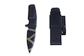 TSC MAD WARRIOR Shrapnel Desert Warfare Dummy Pattern Knife (Black)