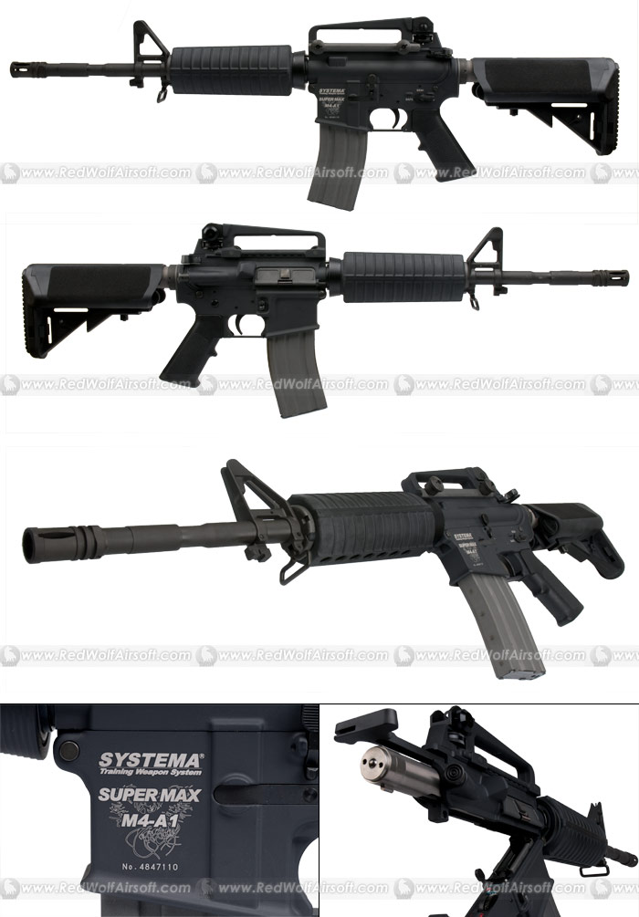 Systema PTW Professional Training Weapon M4A1 SUPER MAX (Collapsible Stock Version) (M165 Cylinder)<font color=red>Free Shipping</font>