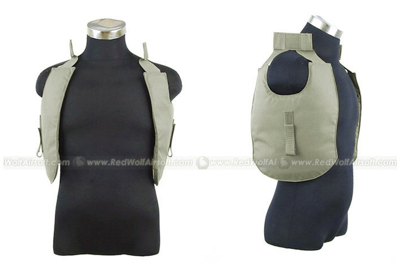 PANTAC Outer Tactical Vest Under Arm Pads (OD, Cordura)