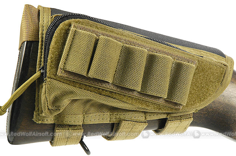 PANTAC Cheek Pad for Rifle / Shotgun (Khaki / CORDURA)
