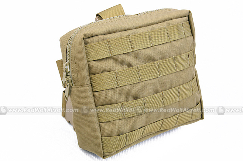 PANTAC Medium Drop Leg Accessories Pouch (Khaki, CORDURA)