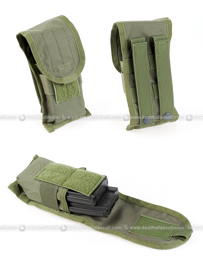PANTAC SDS Molle Single M16 Double Mag Pouch (OD, Cordura)