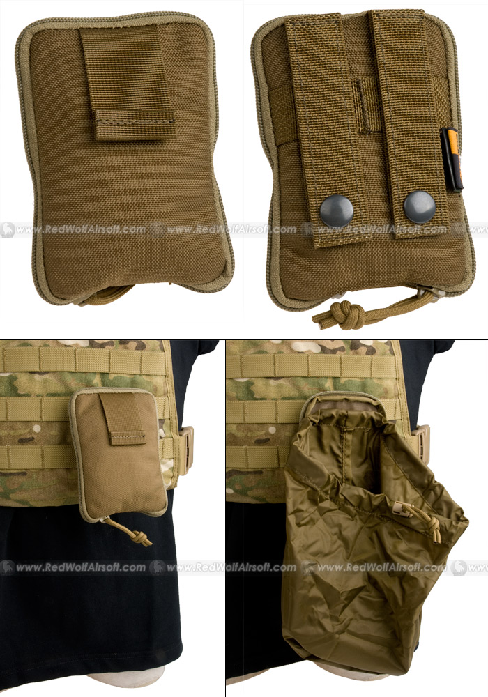 PANTAC Molle Stealth Drop Pouch Medium (CB / Cordura)