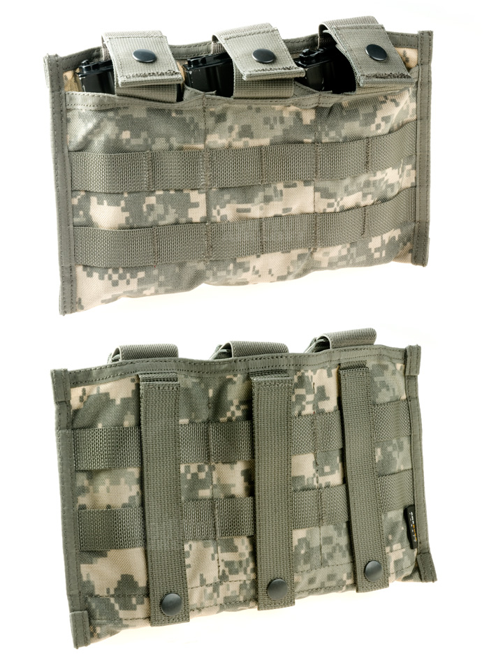 PANTAC Mod A M16 Triple Mag Pouch (ACU / Cordura) <font color=red> (Holiday Blowout Sale)</font>