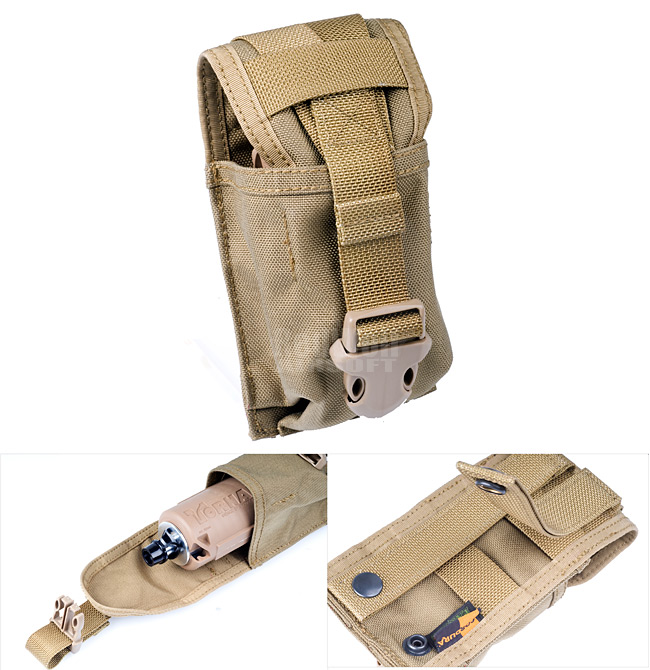 PANTAC Molle SpecOps Single Smoke Grenade Pouch (Coyote Brown / Cordura)