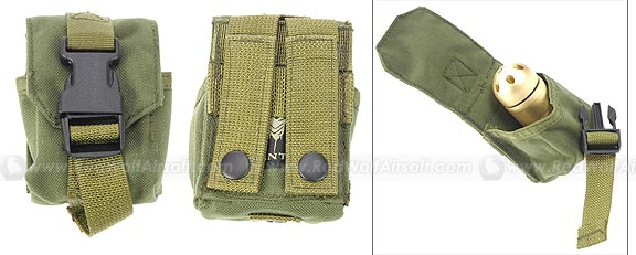 PANTAC Single Fragmention Grenade Pouch (OD / CORDURA)