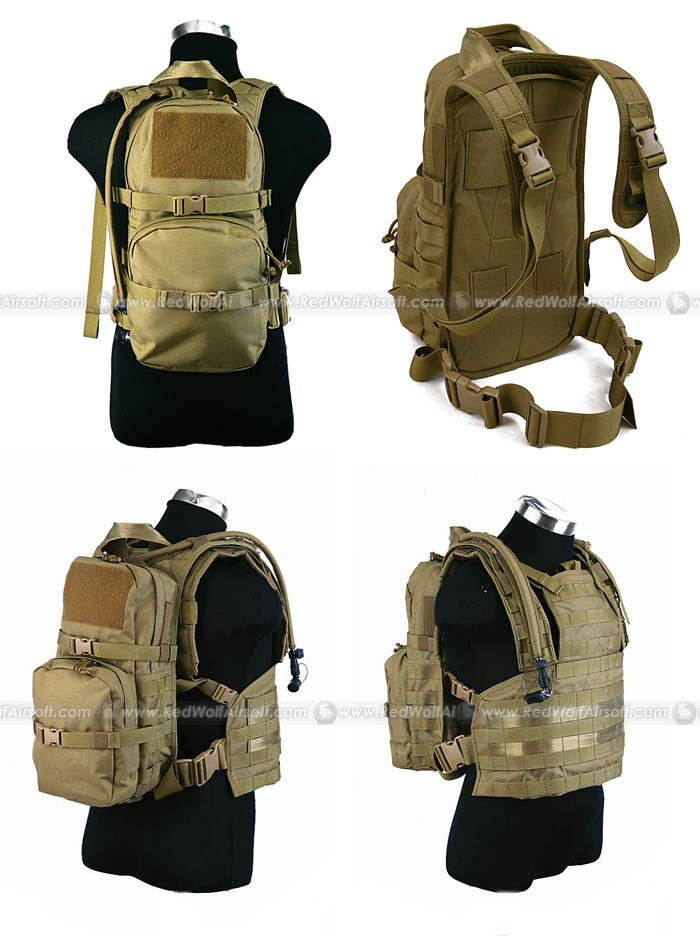 PANTAC Hydration Backpack for RRV Vest (Khaki / CORDURA)