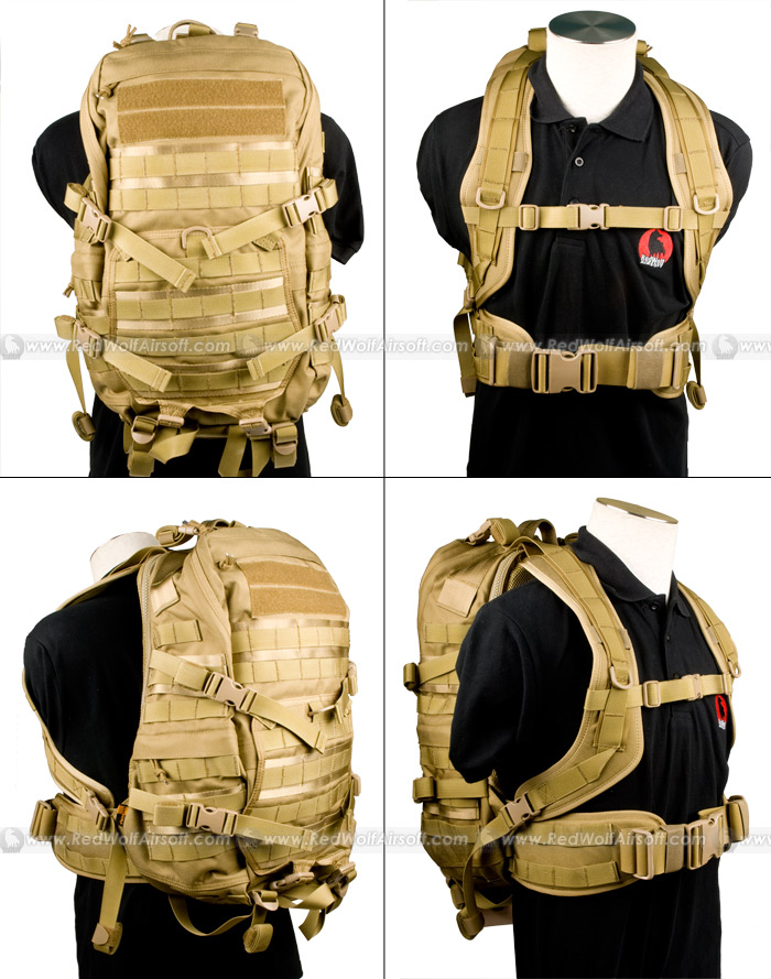 PANTAC TAC Attack Backpack (Khaki / Cordura)