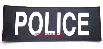 MilSpex Police Patch - Large<font color=red> (Clearance)</font>