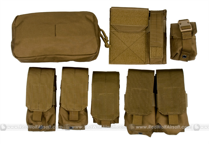 PANTAC Molle Pouches Set Basic Version (CB / Cordura)