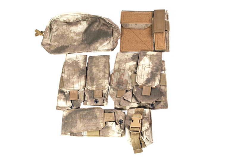 PANTAC Molle Pouches Set, Basic Version (A-TACS / Cordura)