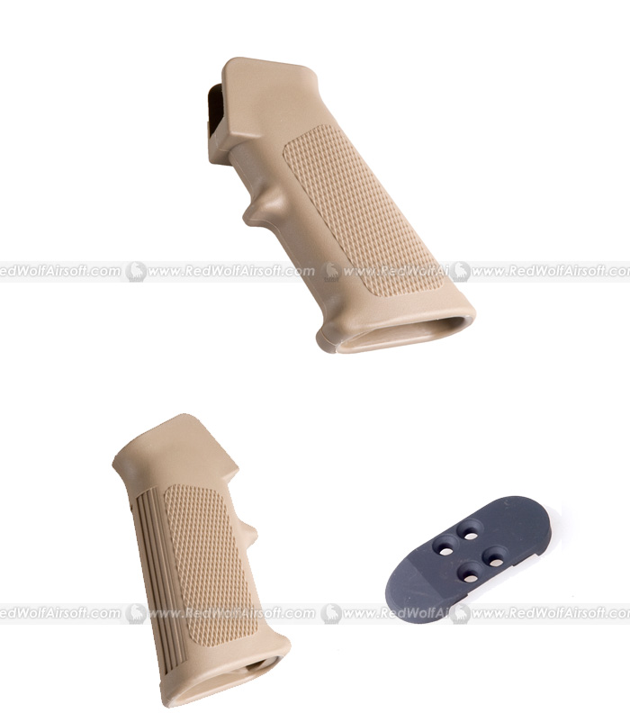 G&P Systema M16A2 Grip with Metal Grip Cover (Sand)