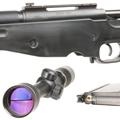 Tanaka M700 A.I.C.S. Coverd Snyper with 3-9x40mm Scope & High Mount Rings (BLACK)