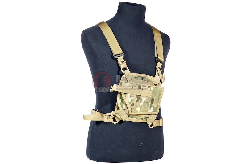 Pantac Shoulder MOLLE System Panel w/ Holster (MC / CORDURA)