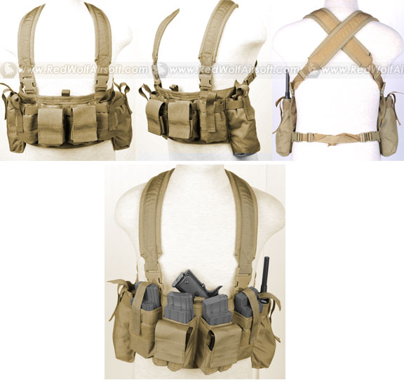 PANTAC M4 Tactical Chest Vest CORDURA (Khaki)