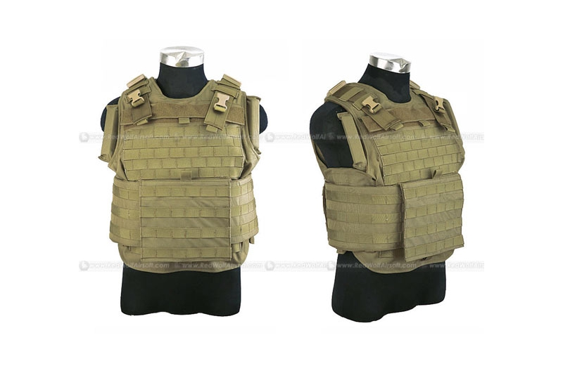 PANTAC MTV Body Armor (Medium / Khaki CORDURA) <font color=red>FREE SHIPPING</font>