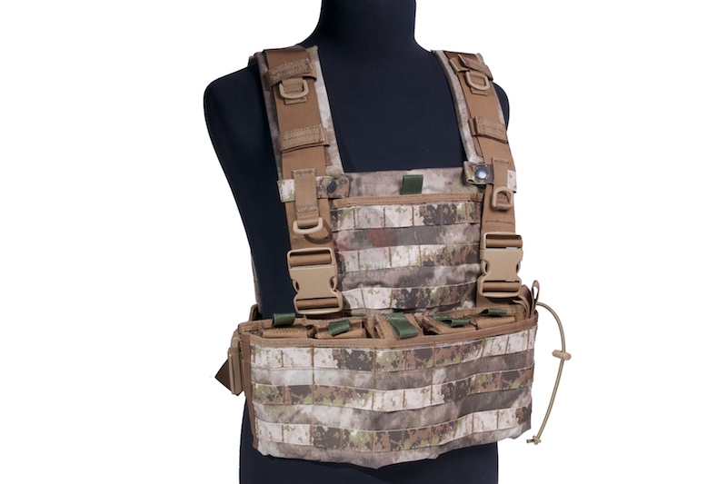 PANTAC Molle Wasatch Chest Rig (A-TACS / Cordura) - Deluxe Version