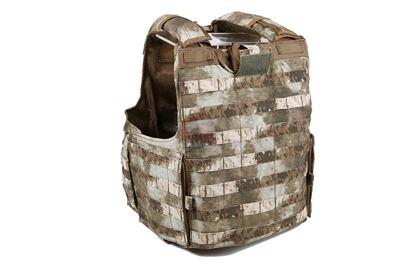 PANTAC Releaseable Molle Armor Cover Marinetime Version (Medium / A-TACS / Cordura) - Deluxe Version