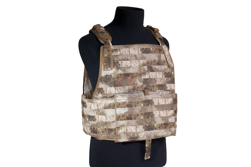 PANTAC Strike Plate With Pouch Set (Medium / A-TACS / Cordura) - Deluxe Version