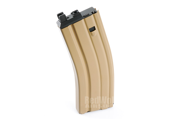 WE 30rds CO2 Magazine for WE SCAR & M4 (Tan) for CLOSED BOLT Version
