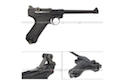 WE Luger P08 (6 inch / Black)