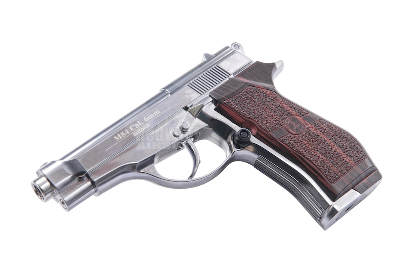 Win Gun WC301 CO2 Semi-Auto Pistol (Fixed Slide / Silver) <font color=red>(Holiday Blowout Sale)</font>