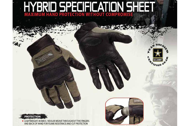 Wiley X Hybrid Gloves (Small / Foliage Green)
