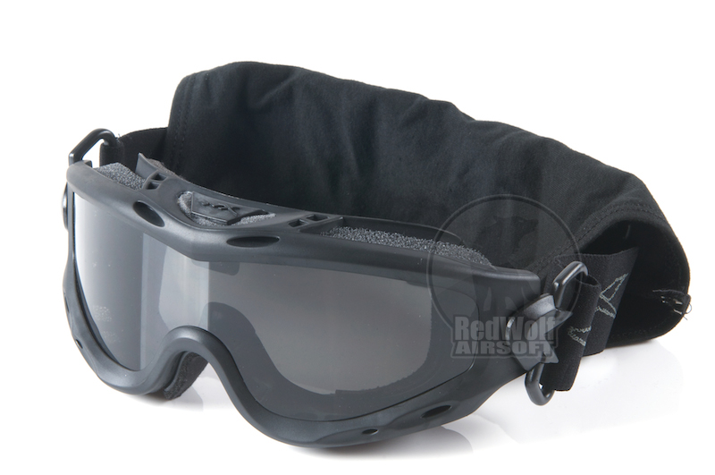 Wiley X Spear Goggle (Grey / Clear Lens) - Black Frame