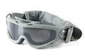 Wiley X Spear Goggle (Grey / Clear Lens) - Foilage Green Frame