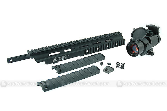 G&P M14 RAS Kit For Marui M14 Series with Military Type 30mm Red Dot Scope Sight
