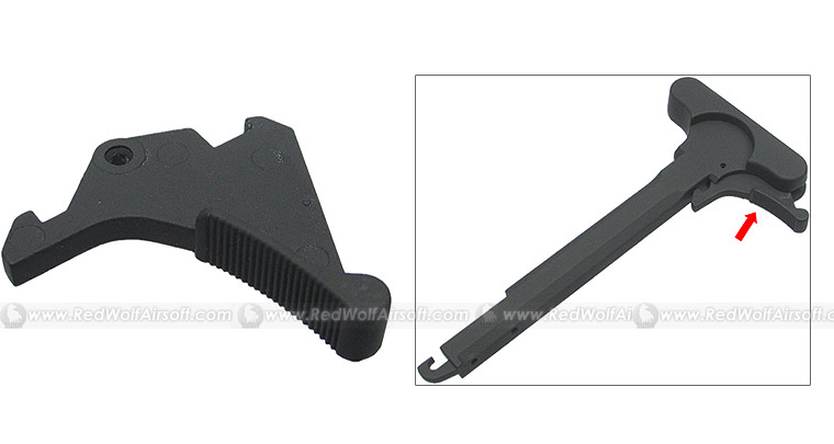 King Arms Big Latch for M4 Charging Handle