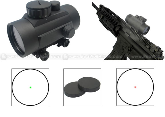 King Arms 1 x 40 Red/Green Dot Scope for 20mm rails