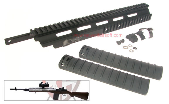 King Arms M14 RAS (Full) (Black Color)