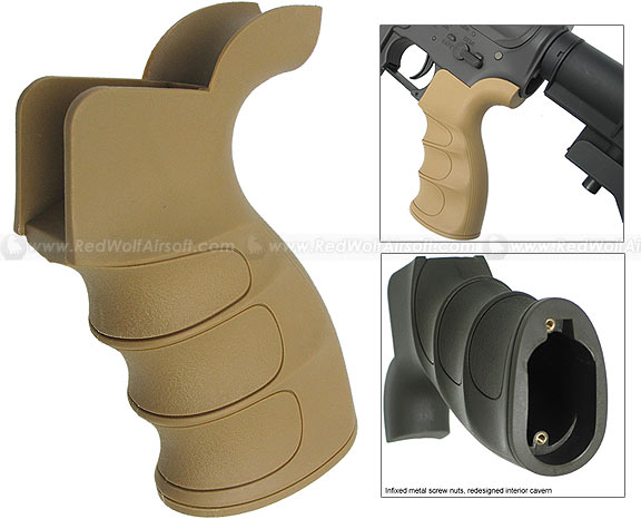 King Arms G27 Pistol Grip for Marui M16/M4 Series (Tan)